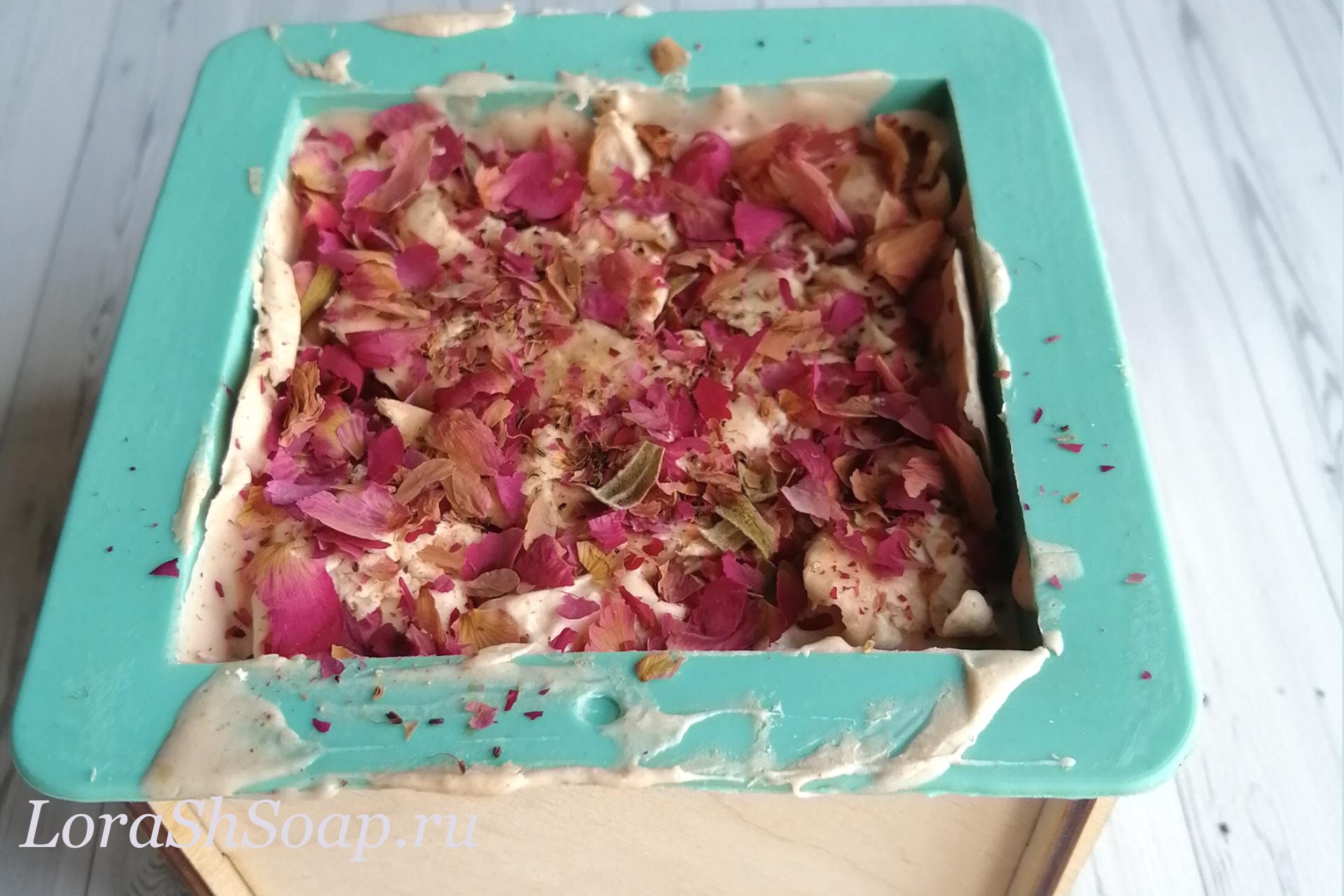 Мыло натуральное ручной работы розовое