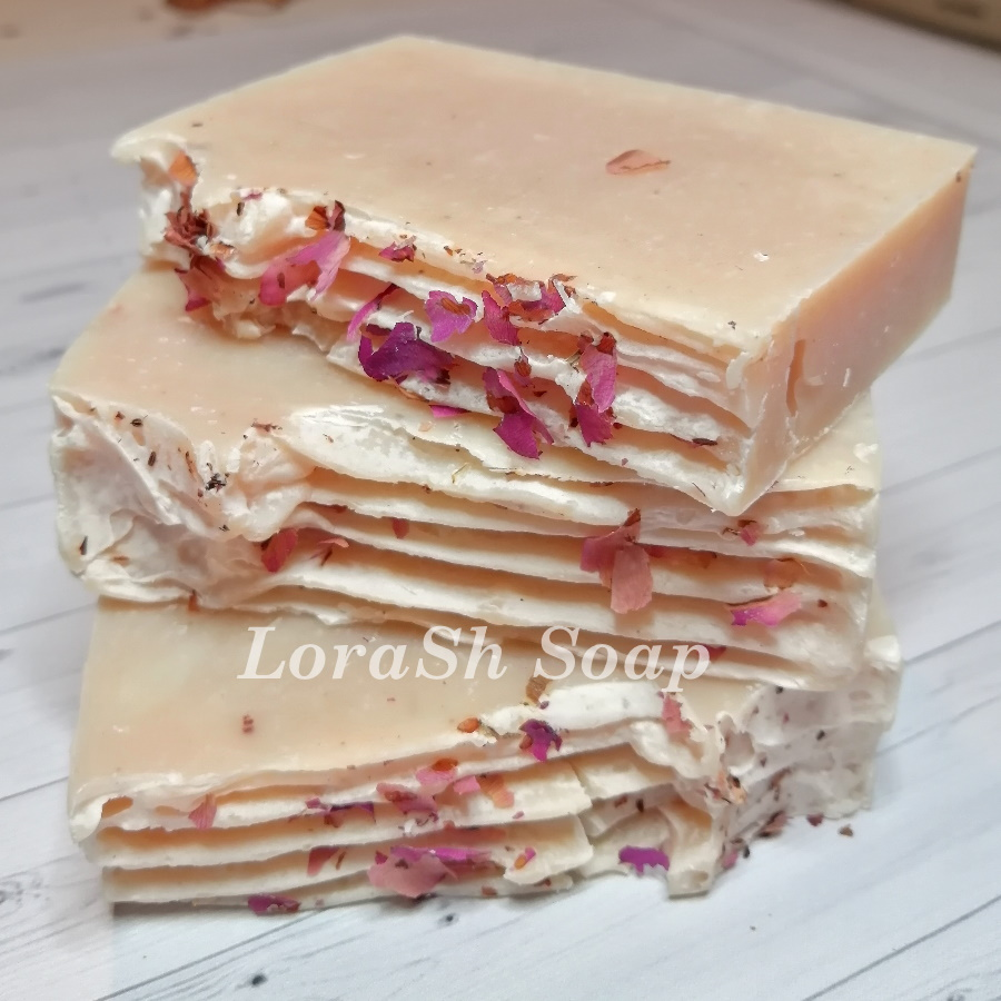 Розовое мыло ручной работы от блога Lorash soap