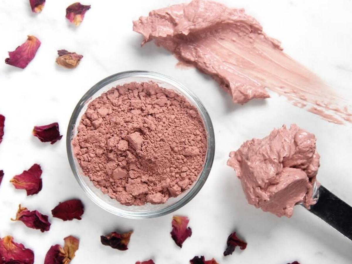 Каолиновая розовая глина
